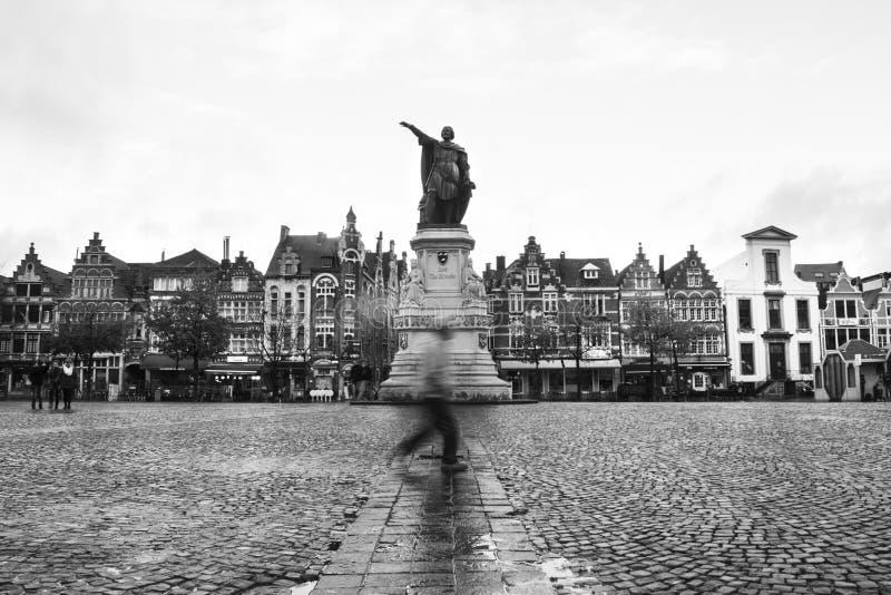 Gent Джейкоба Van Artevelde Vrijdagsmarkt стоковое фото rf