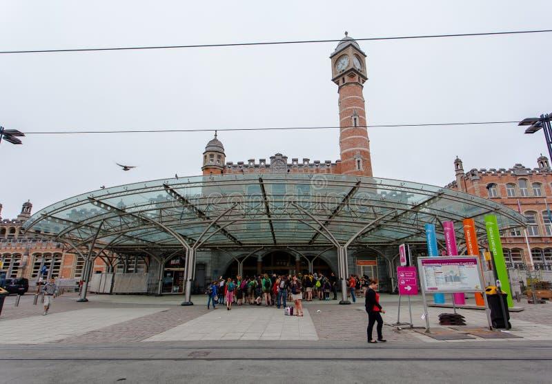 Gent-Bahnstation lizenzfreies stockfoto