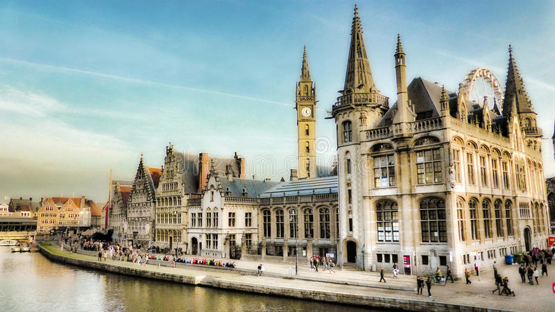 Gent, België, Europa royalty-vrije stock fotografie