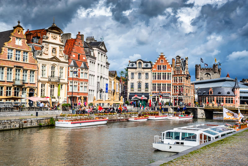 Gent, Flanders, Belgium royalty free stock photography