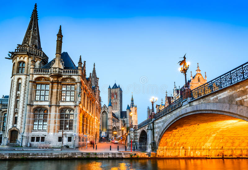 Gent, Flanders, Belgium. stock photo