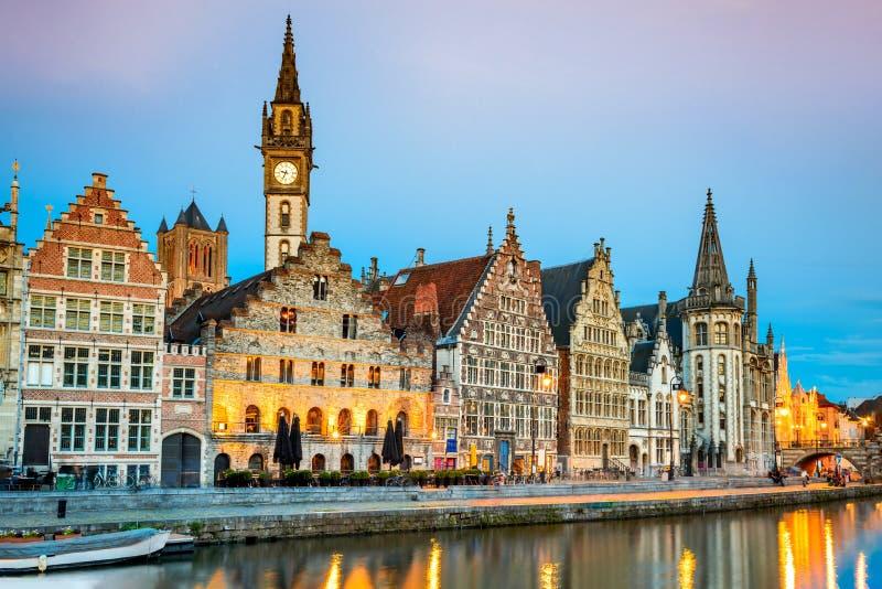 Gent Ghent Belgia Flandryjski zdjęcie royalty free