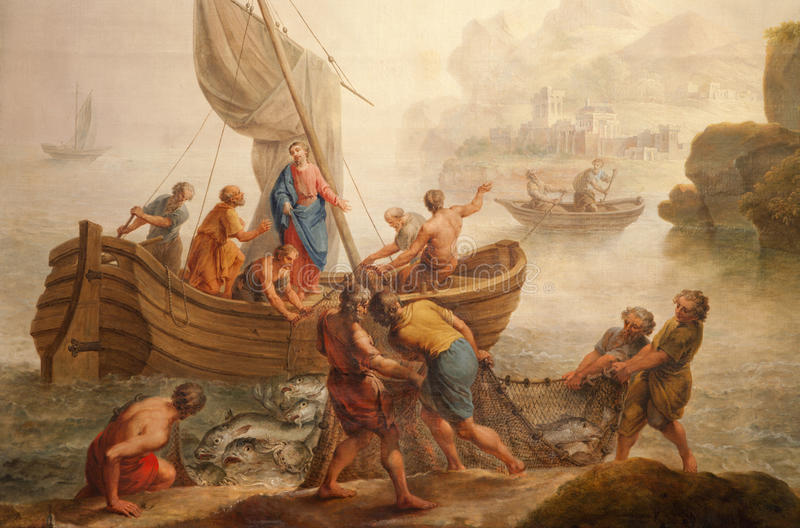 Download Gent - Miracle Fishing From St. Peter S Church Stock Photo - Image: 26249060