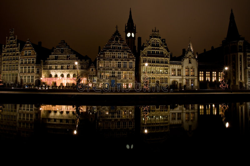 Gent By Night stock photos