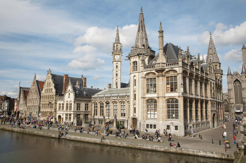 Gent - Post palace and Graselei street