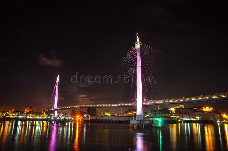 Gentala Arasy桥梁侧视图  免版税图库摄影