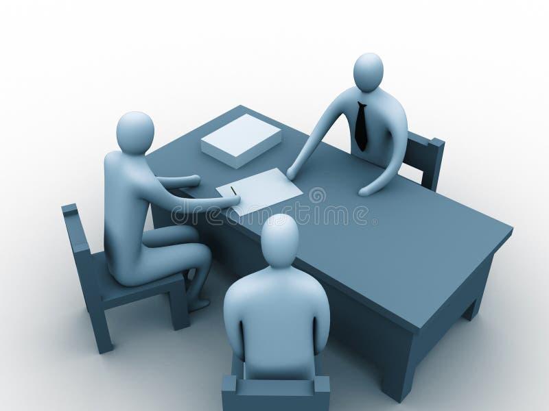 gente 3d en una oficina ilustración del vector