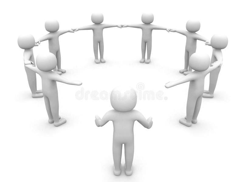 gente 3d que se une a a las personas. imagen de archivo libre de regalías