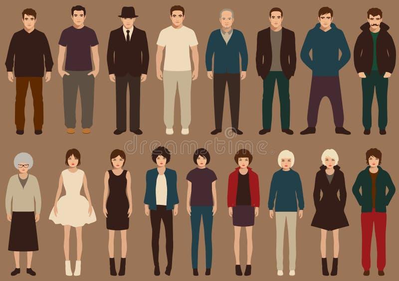 Download Gente ilustración del vector. Ilustración de varón, muchacha - 42441836