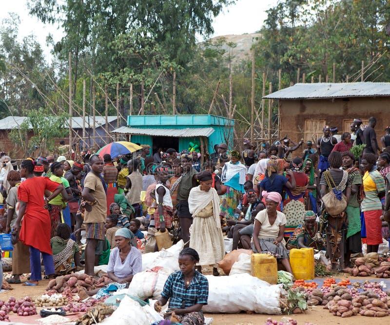 Mercado africano fotografía de archivo