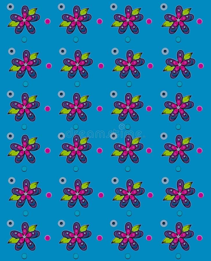 Gente Art Petals Blue libre illustration