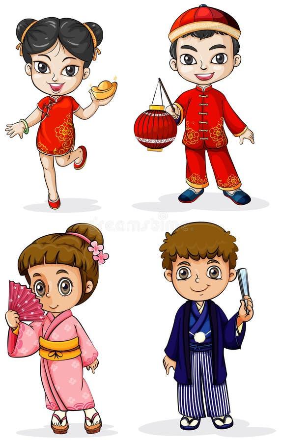 Gente asiática libre illustration