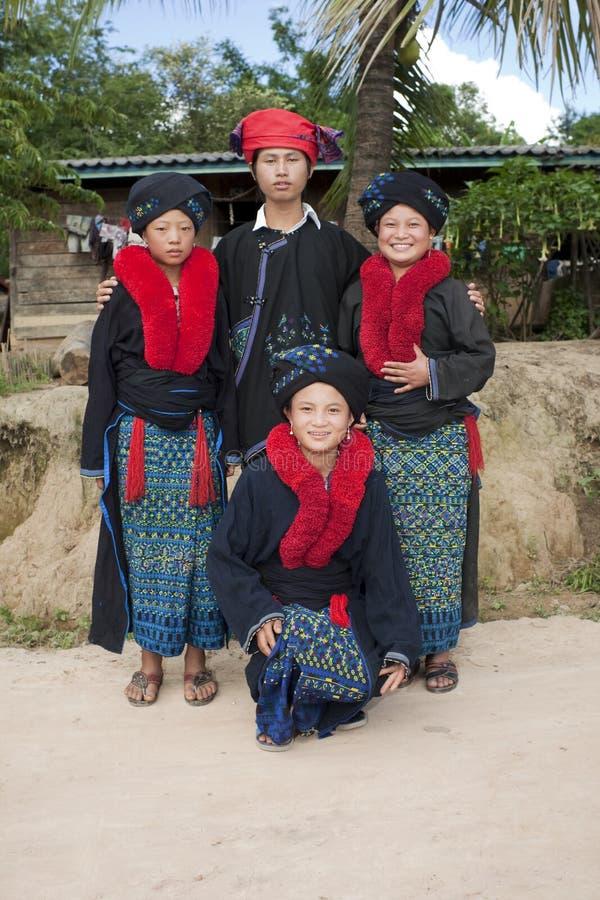 Gente asiática Laos, grupo étnico Yao fotos de archivo