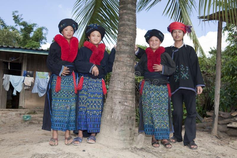 Gente asiática Laos, grupo étnico Yao imagen de archivo