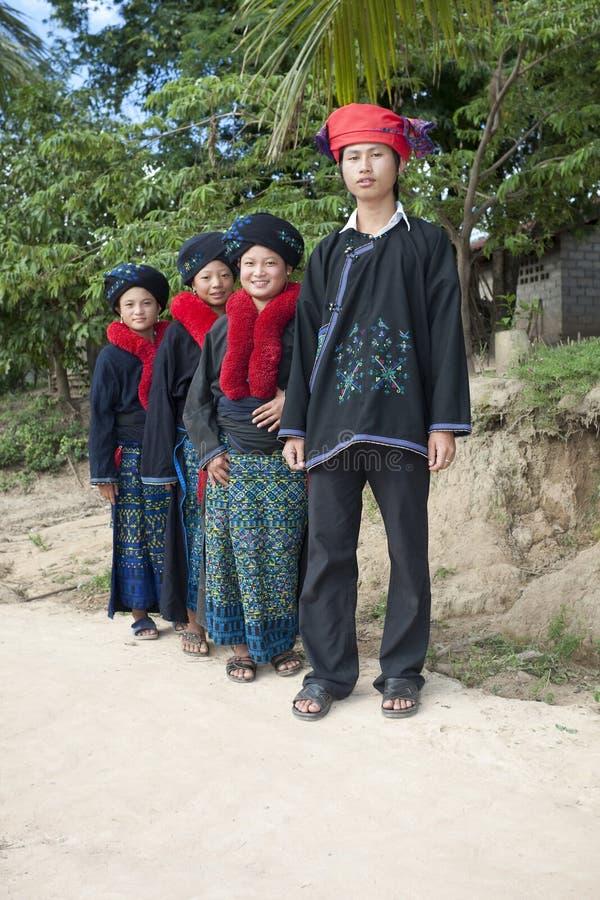 Gente asiática Laos, grupo étnico Yao imagen de archivo libre de regalías