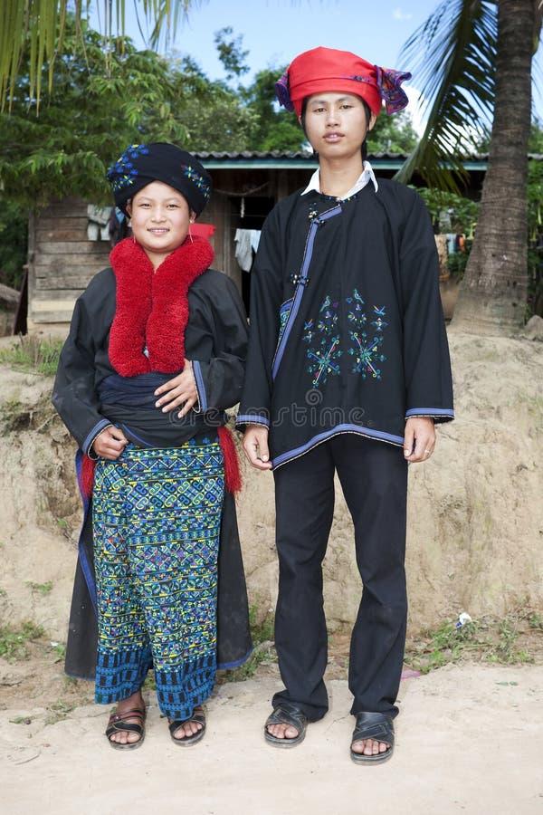 Gente asiática Yao de Laos imágenes de archivo libres de regalías