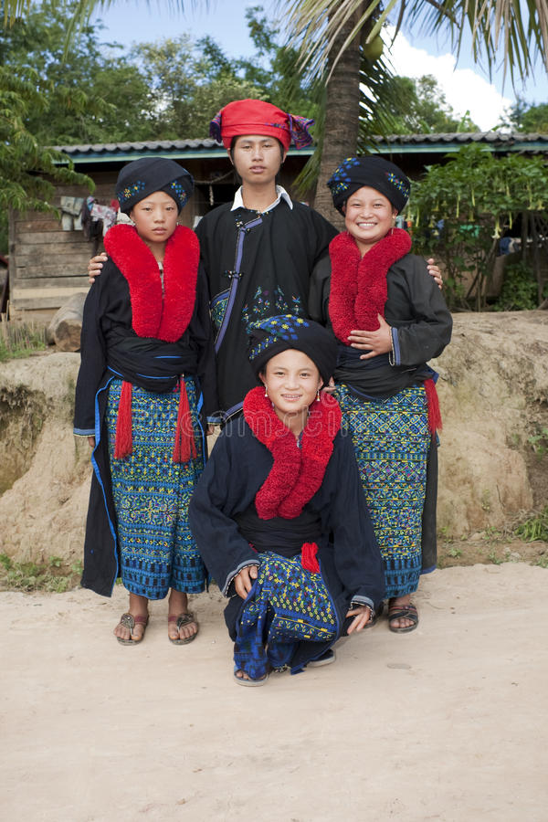 Gente asiatica Laos, gruppo etnico Yao fotografie stock