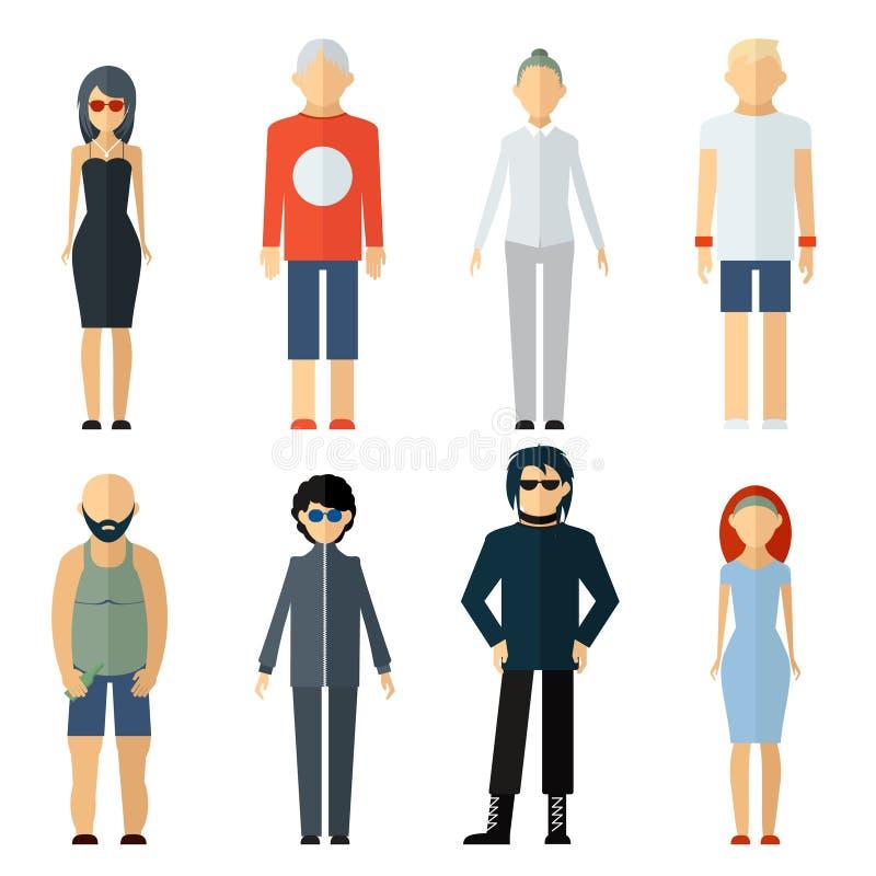 Gente assortita di vettore sullo stile di vita differente royalty illustrazione gratis