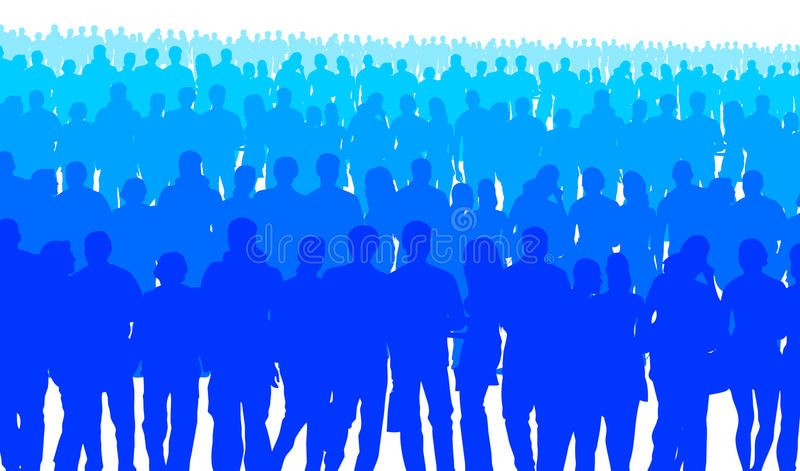 Gente azul ilustración del vector