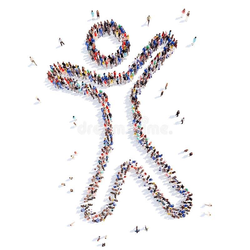 Gente bajo la forma de hombre ilustración del vector