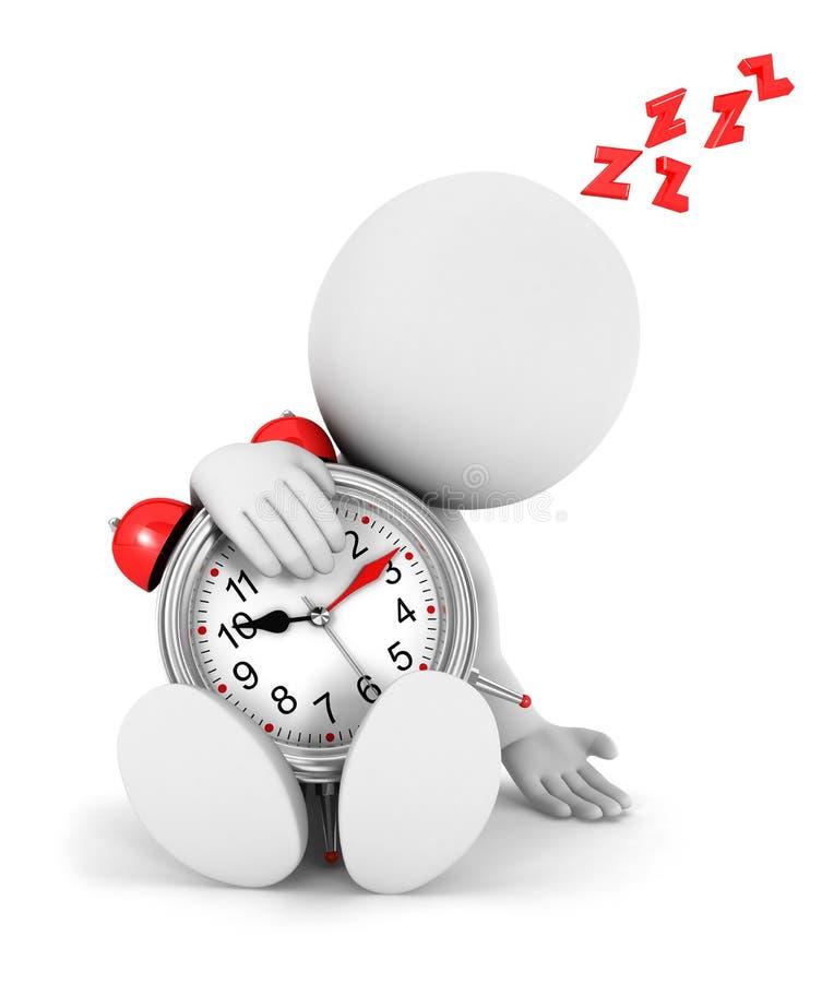 gente blanca 3d cansada libre illustration