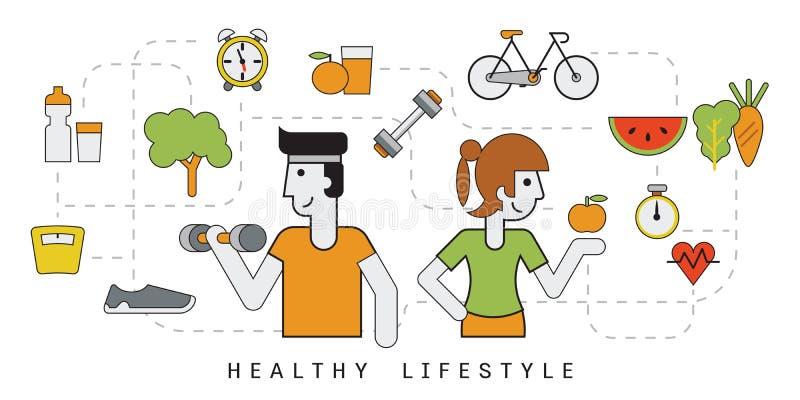 Gente in buona salute illustrazione vettoriale