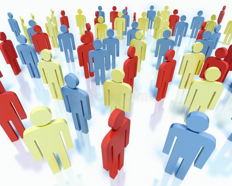 Gente - concepto del equipo del negocio libre illustration