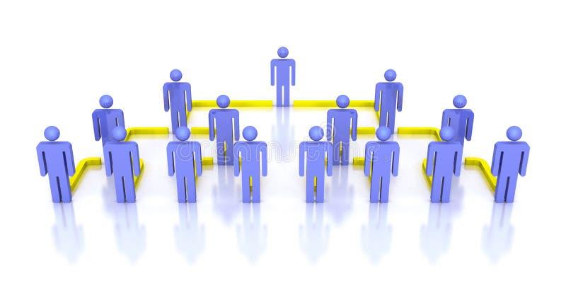 Gente corporativa de la red 3d del negocio de la jerarquía libre illustration