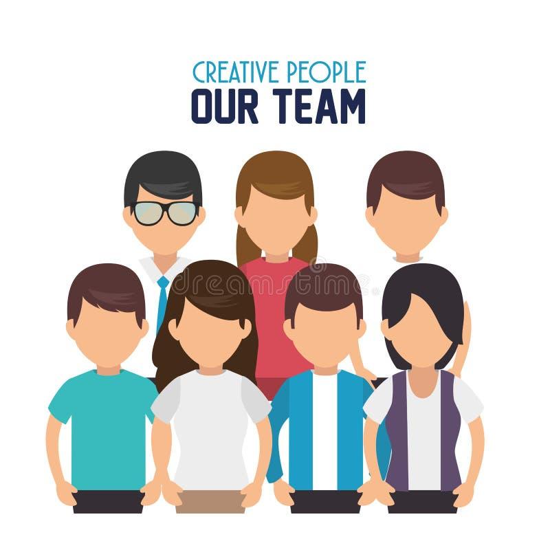 Gente creativa il nostro gruppo illustrazione vettoriale