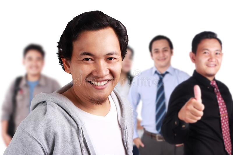 Gente creativa que sonríe junto fotografía de archivo