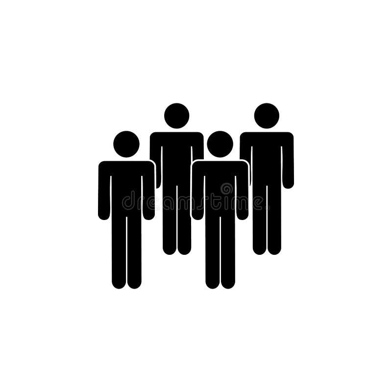 gente, cuatro, icono espeso Elemento de un icono de grupo de personas Icono superior del diseño gráfico de la calidad Muestras e  libre illustration