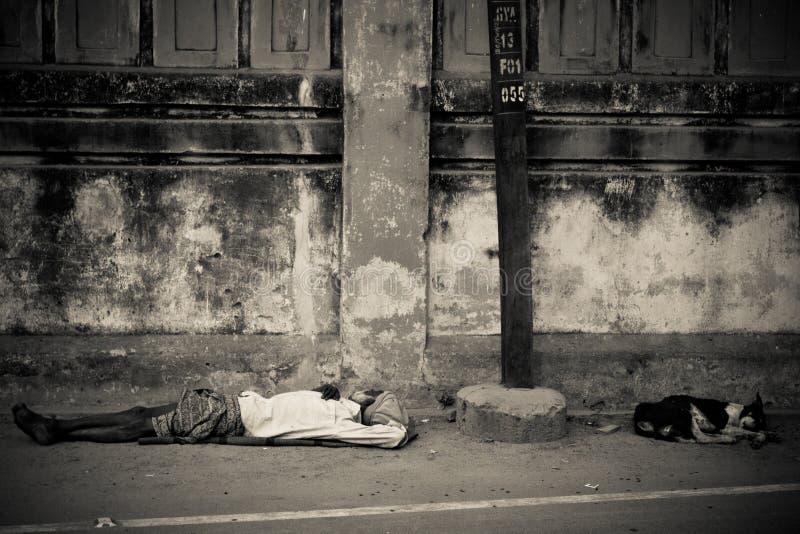 Gente de Bodh Gaya, la India imagen de archivo