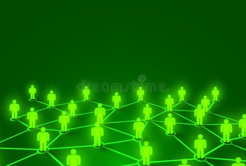 Gente de conexi?n Concepto social de la red Fondo brillante ilustración del vector
