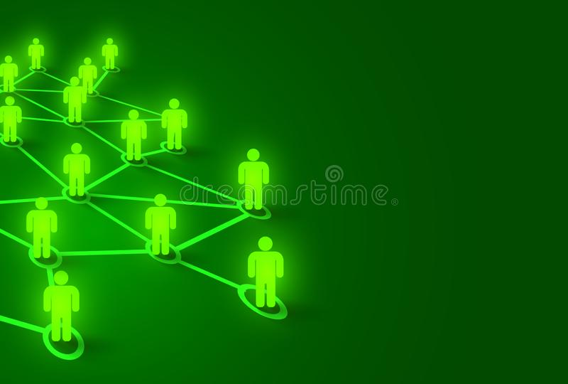 Gente de conexi?n Concepto social de la red Fondo brillante libre illustration