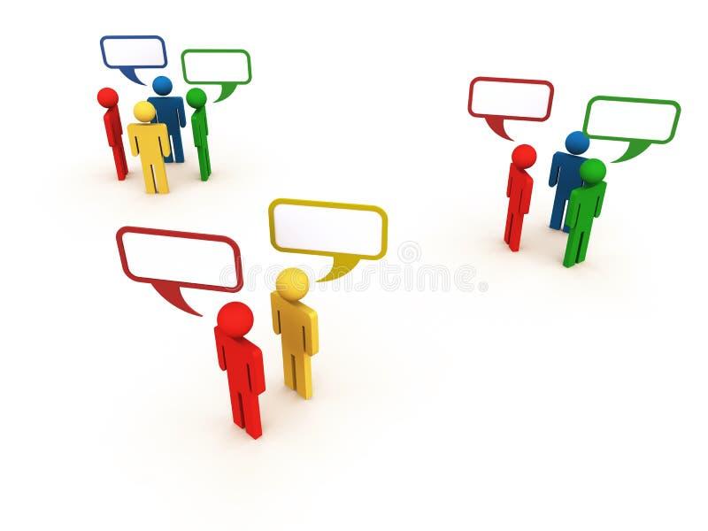 Gente de diverso hablar de la cultura o del origen ilustración del vector