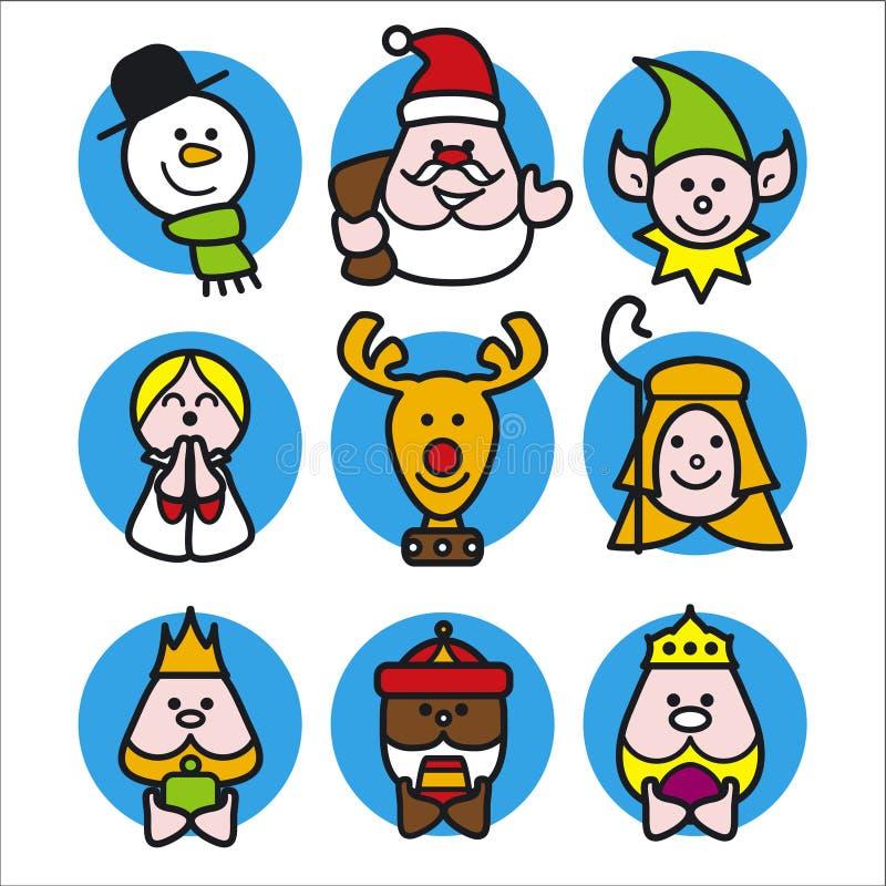 Gente de la Navidad ilustración del vector