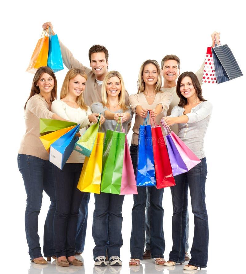 Gente de las compras imagen de archivo