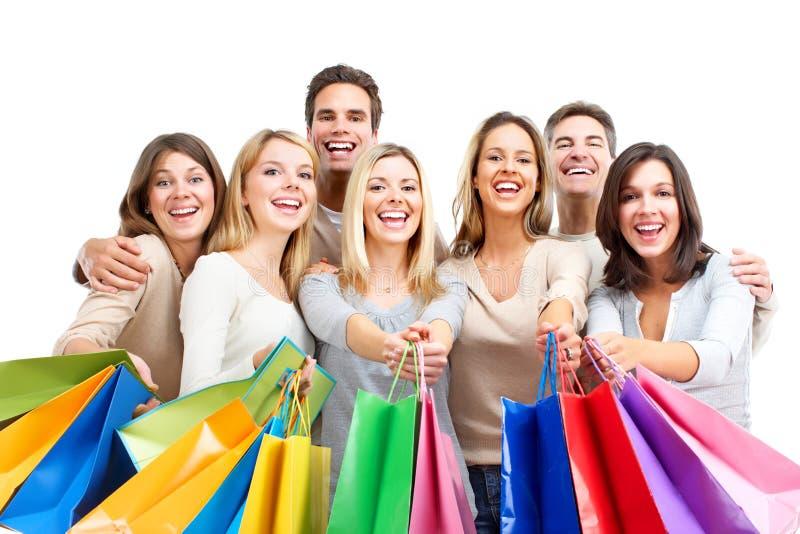 Gente de las compras fotos de archivo libres de regalías