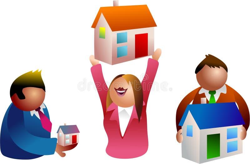 Gente de las propiedades inmobiliarias libre illustration