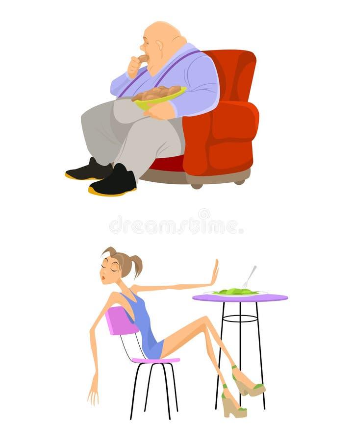 Gente de los problemas del peso libre illustration