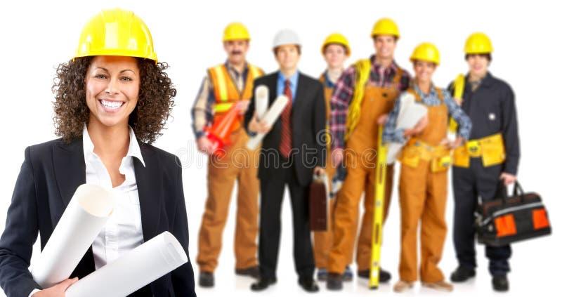 Gente de los trabajadores industriales foto de archivo