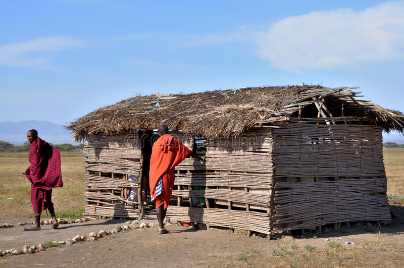 Gente de Maasai imagenes de archivo