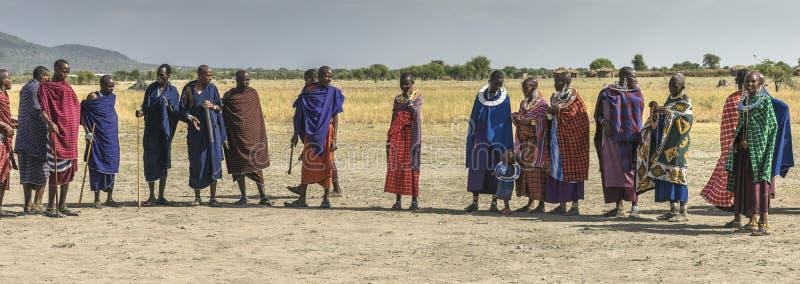 Gente de Maasai fotografía de archivo