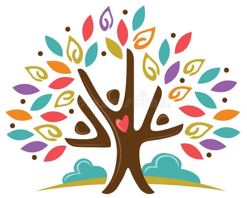 Gente del árbol de la comunidad libre illustration
