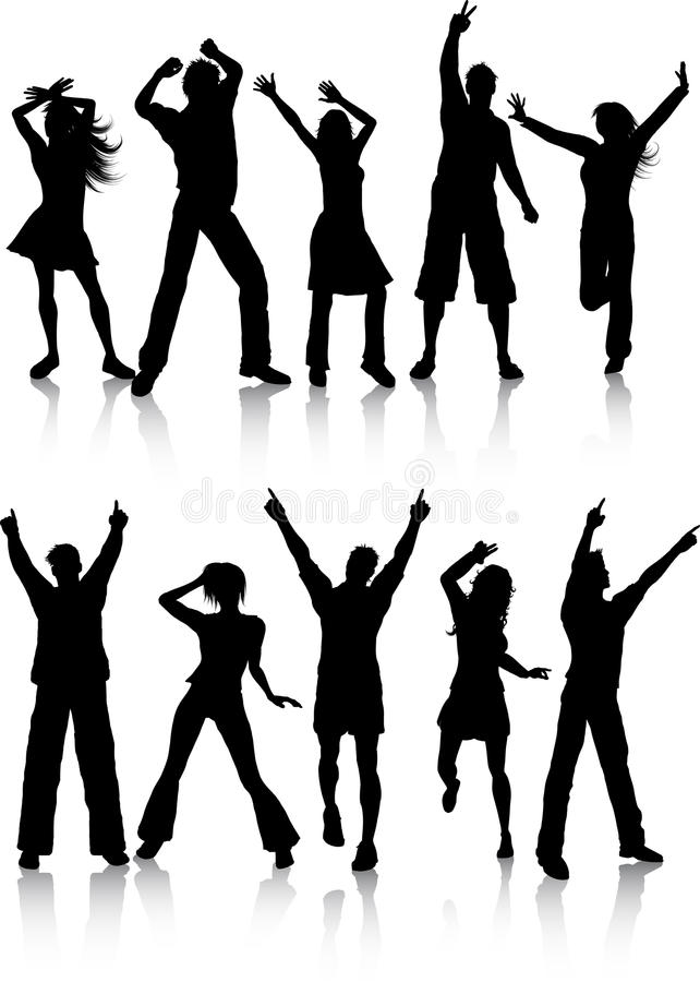 Gente del baile ilustración del vector