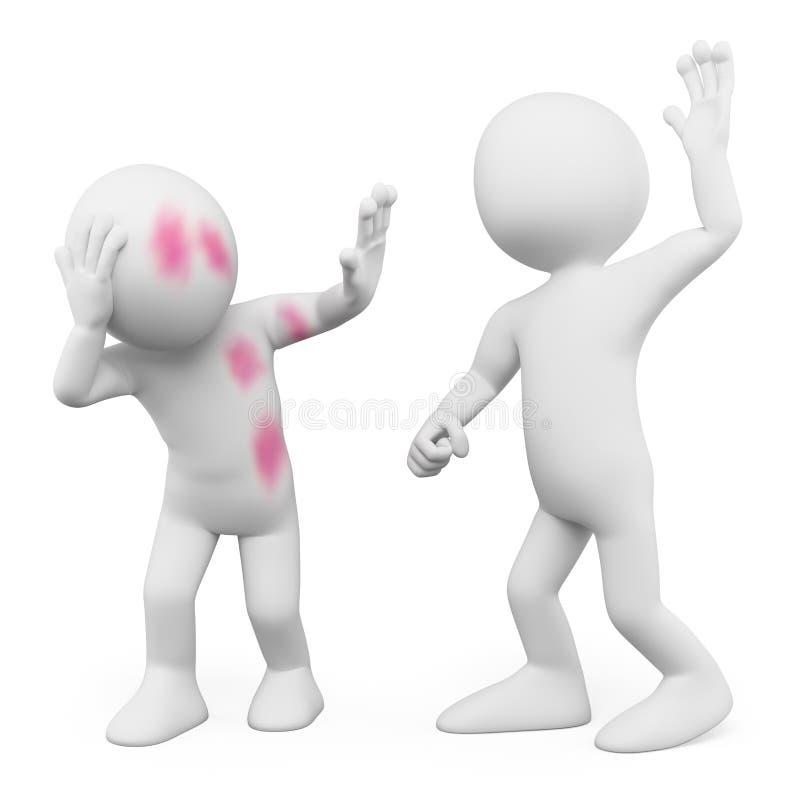 gente del blanco 3d abuso ilustración del vector