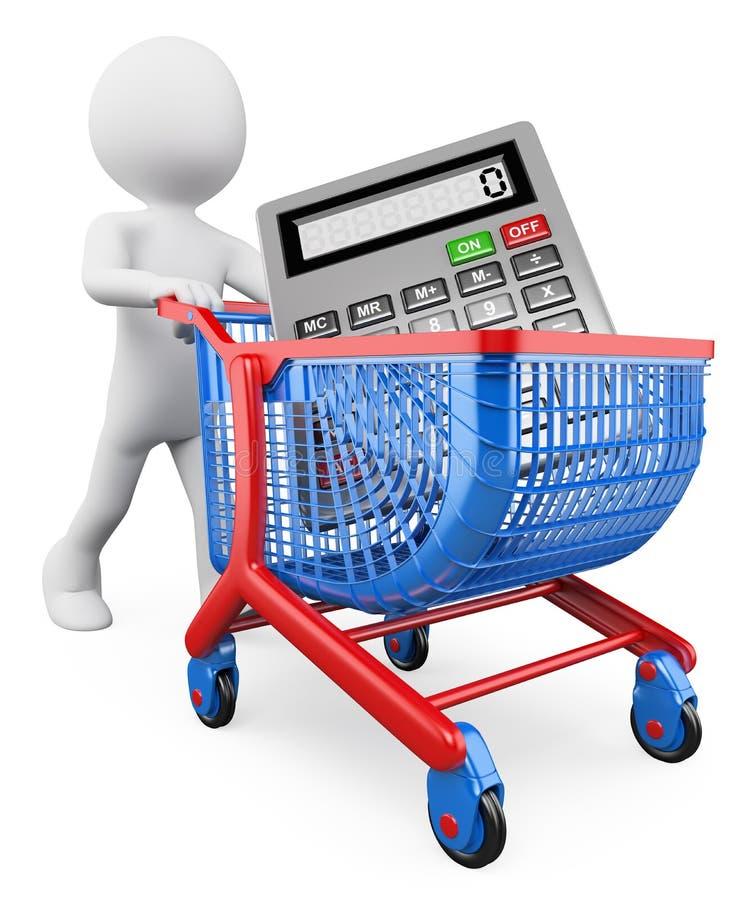 gente del blanco 3d Concepto de las compras ventas ilustración del vector