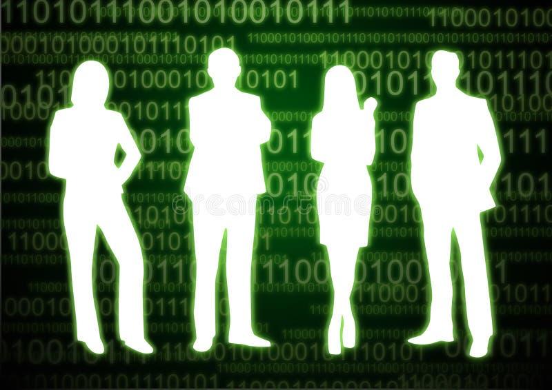 Gente 4 del dígito binario imagen de archivo