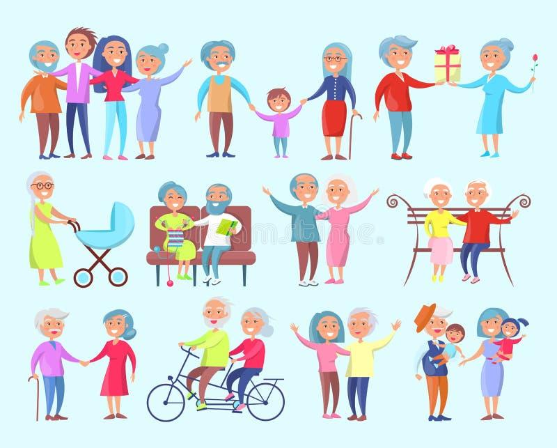Gente del ejemplo aislado diversa edad libre illustration