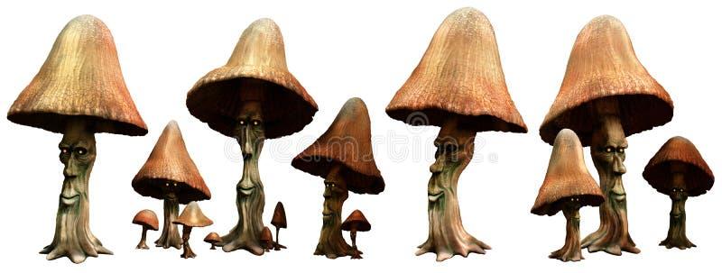 Gente del fungo illustrazione di stock